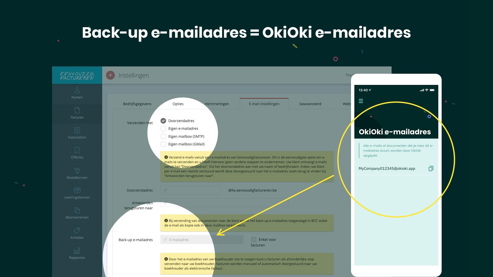 Hoe je Eenvoudigfactureren.be facturen in OkiOki ontvangen