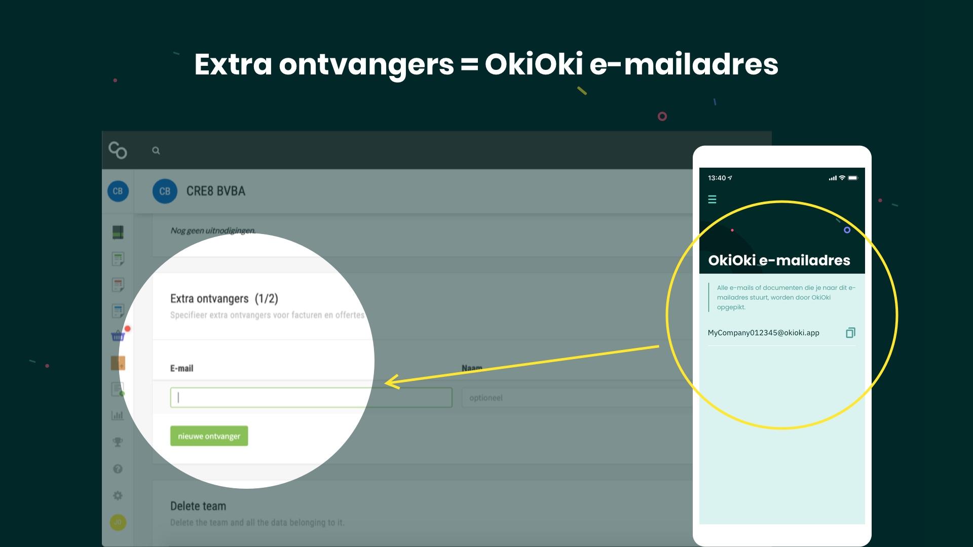 Hoe je Comanage verkoopfacturen in OkiOki ontvangen