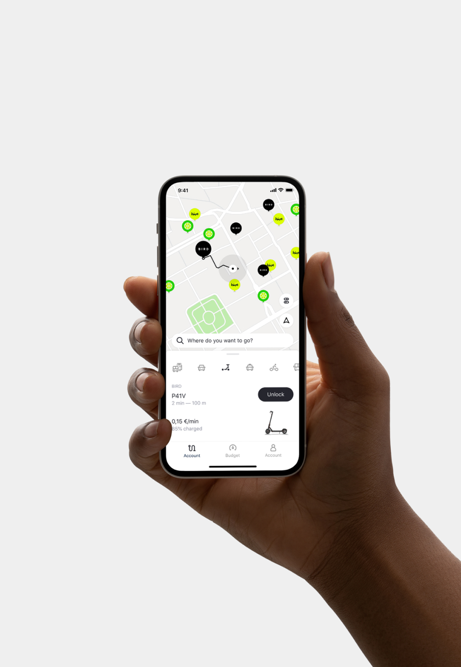 ReachNow Project Thumbnail — Mobility Provider Selection