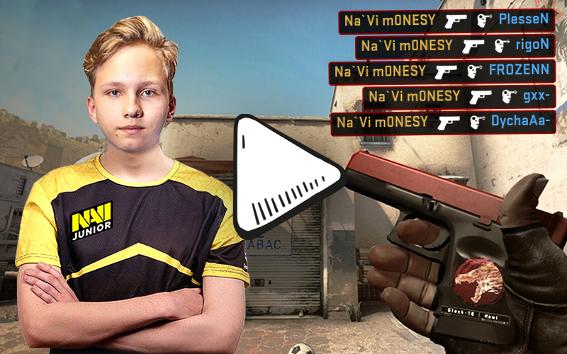 m0NESY from Natus Vincere - Na`Vi - with an amazing Glock Ace
