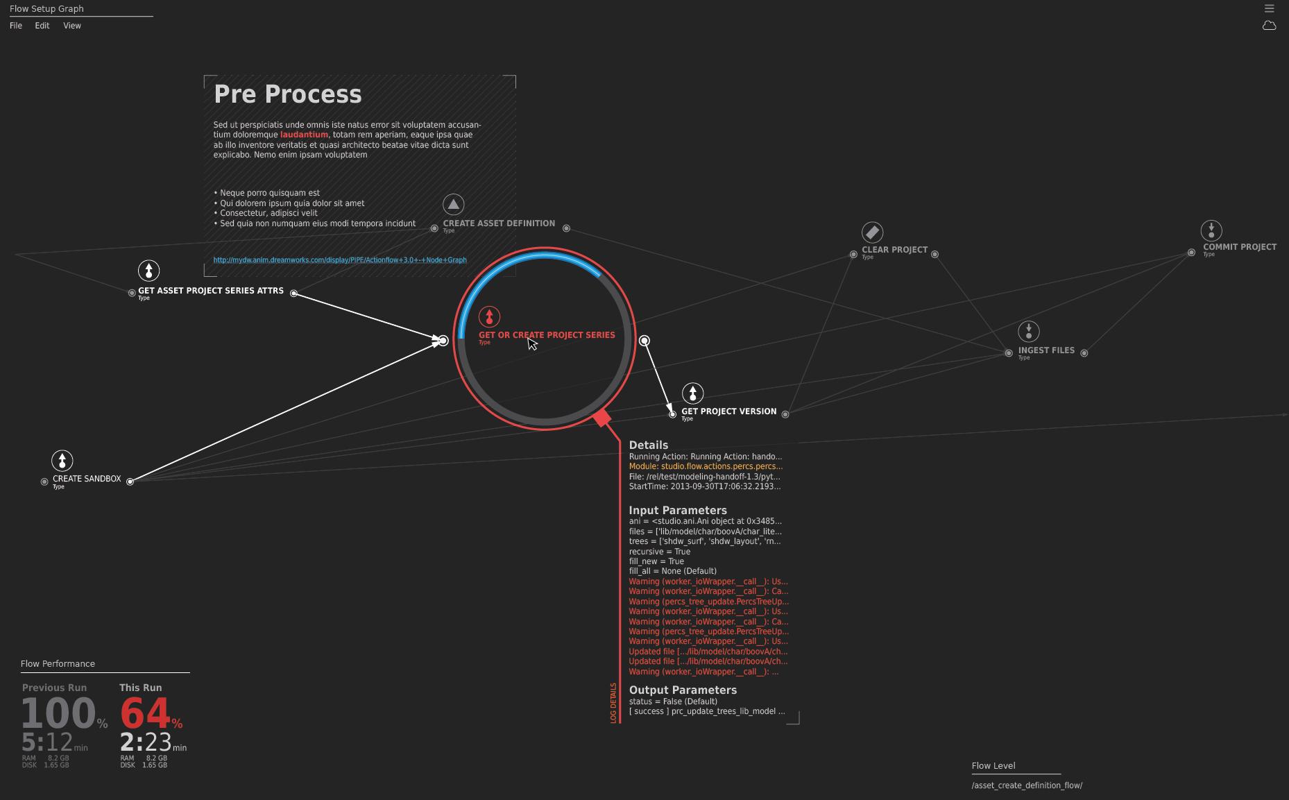 Action Flow workspace v3