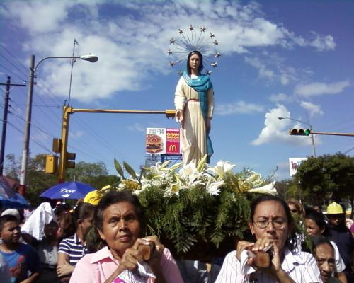 procesion virgen de cuapa