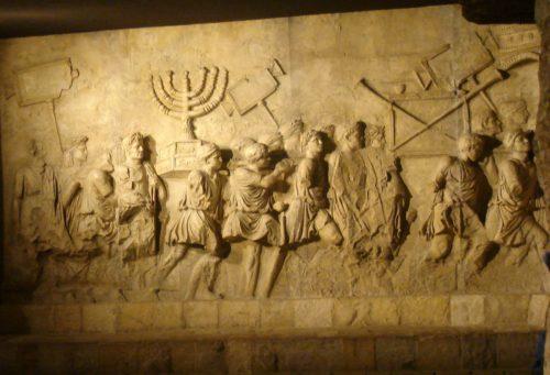 Grabado de Israelitas durante el Exodo