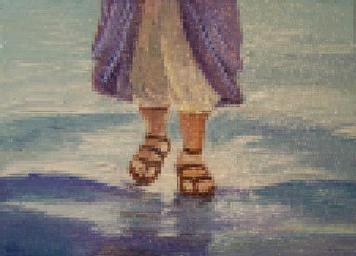 pies de jesus por el agua