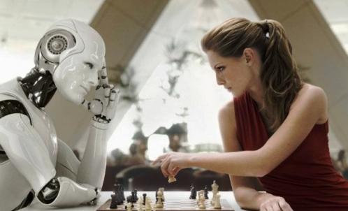 robot jugando ajedrez