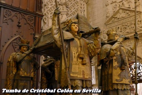 Tumba de cristobal Colon en Sevilla
