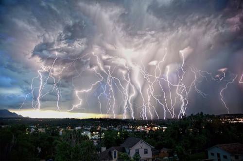 luces de tormenta en colorado