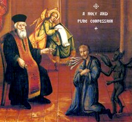 demonio en un monasterio