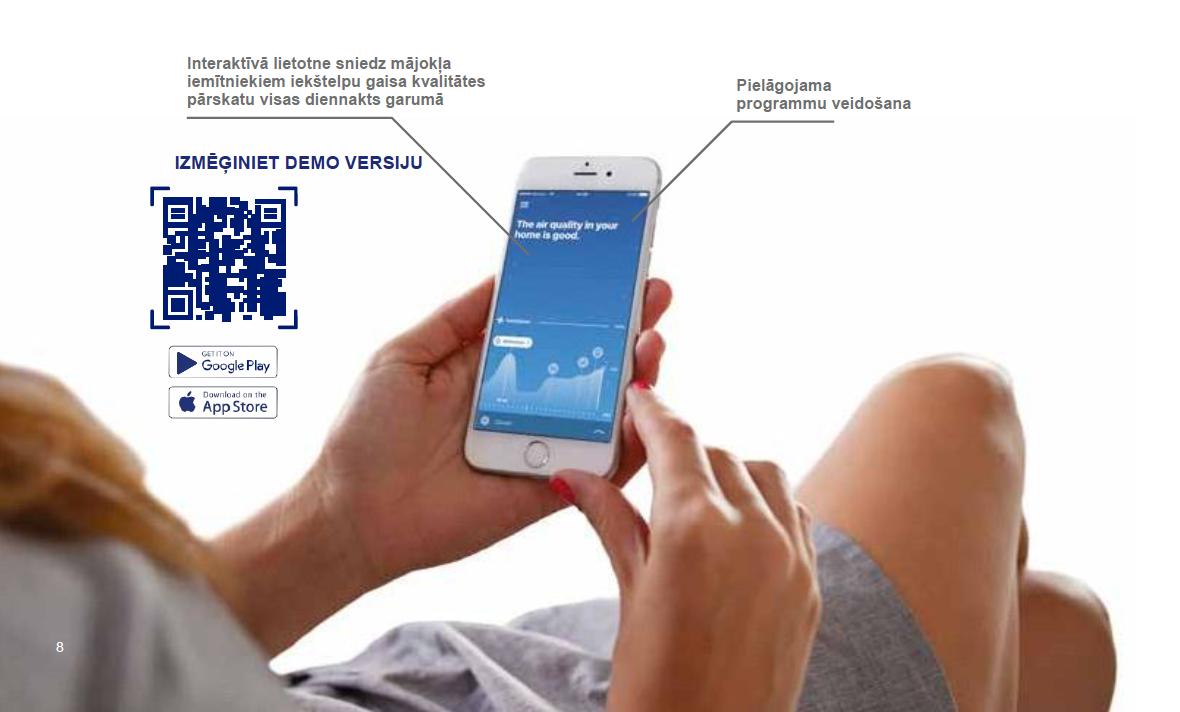Ventilācija RENSON Healthbox 3.0 vadāmība ar mobilo tālruni