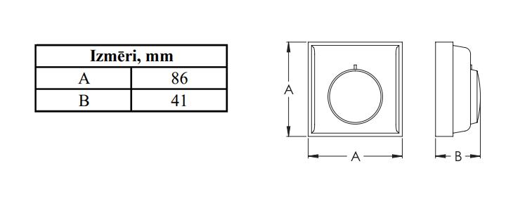 Europlast SPKT izmēri termostatam