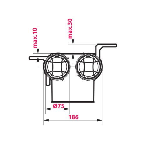 Awenta VPB125-2 izmēri 1