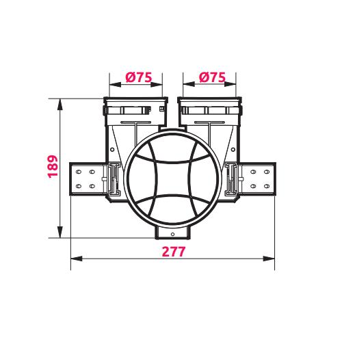 Awenta VPB125-2 izmēri 3