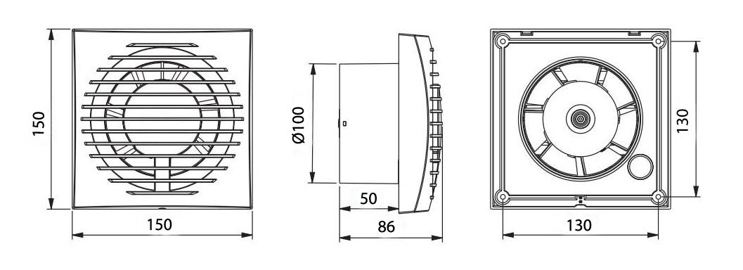 Awenta Focus WFA100T izmēri