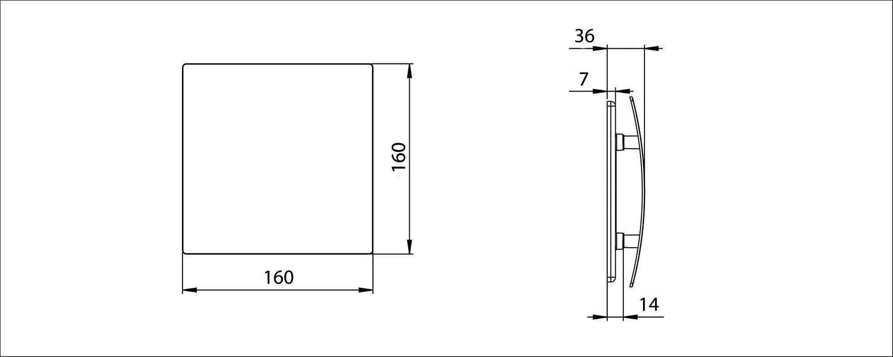 Awenta Escudo priekšējā paneļa izmēri