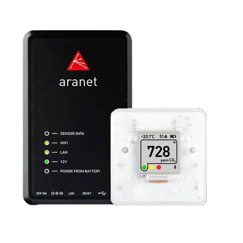 Aranet PRO bāzes stacija 12 ar Aranet4 PRO sensoriem