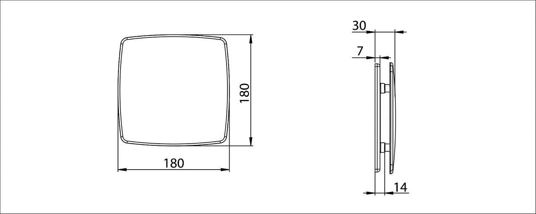 Awenta Nea balta priekšējā paneļa izmēri