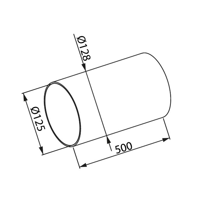 Awenta KO125-05 gaisa vada izmēri