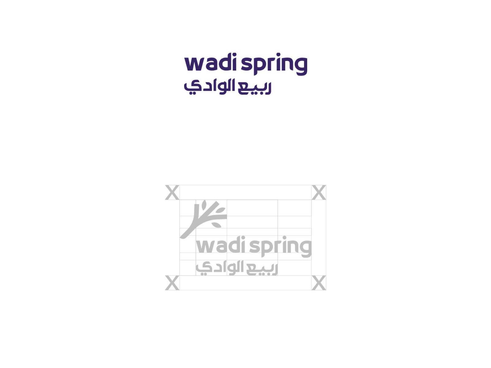 هوية فعالية ربيع الوادي في شركة وادي مكة للتقنية