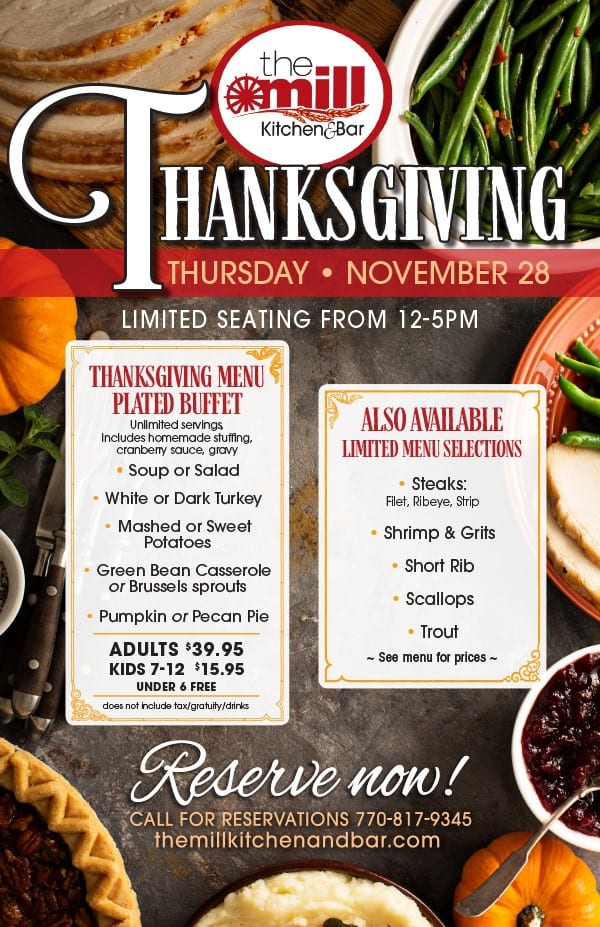 Thanksgiving at the Mill Kitchen & Bar