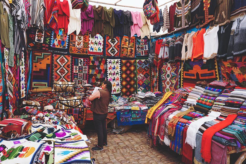 Pisaq Market — One of the main shopping attractions in the sacred valley