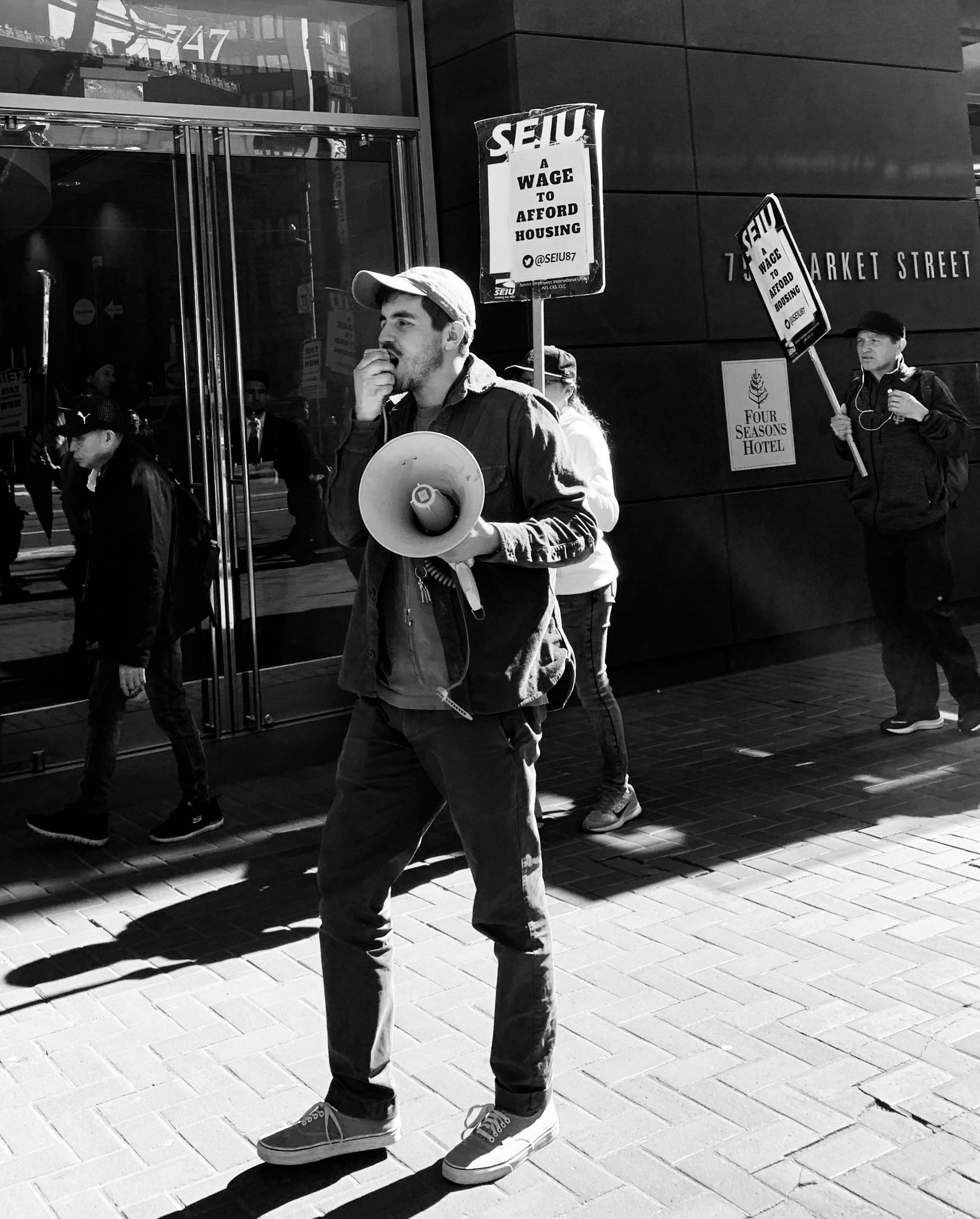 Alexis SEIU Protest