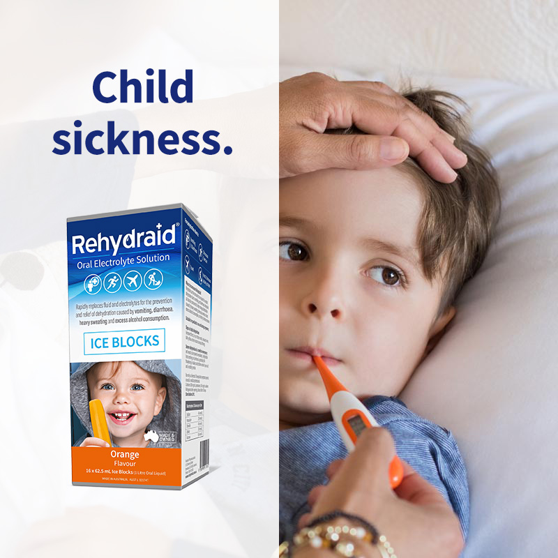 Rehydraid when your child is sick
