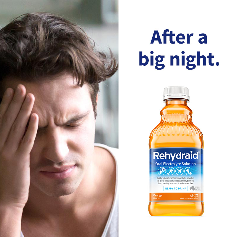 Rehydraid after consuming alcohol