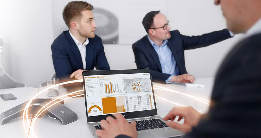Alle Daten aus dem Daily Business in einem zentralen Datenpool bei SIG Sales gespeichert und sind nahezu Real-Time verfügbar.
