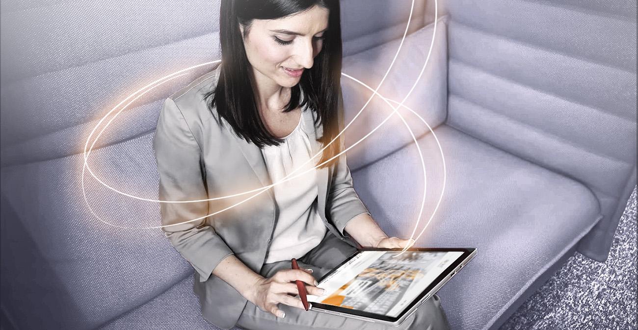 Nahezu in Real-Time auf dem Laufenden bleiben die Kunden von SIG Sales durch die alles verbindende Software Sales 360.