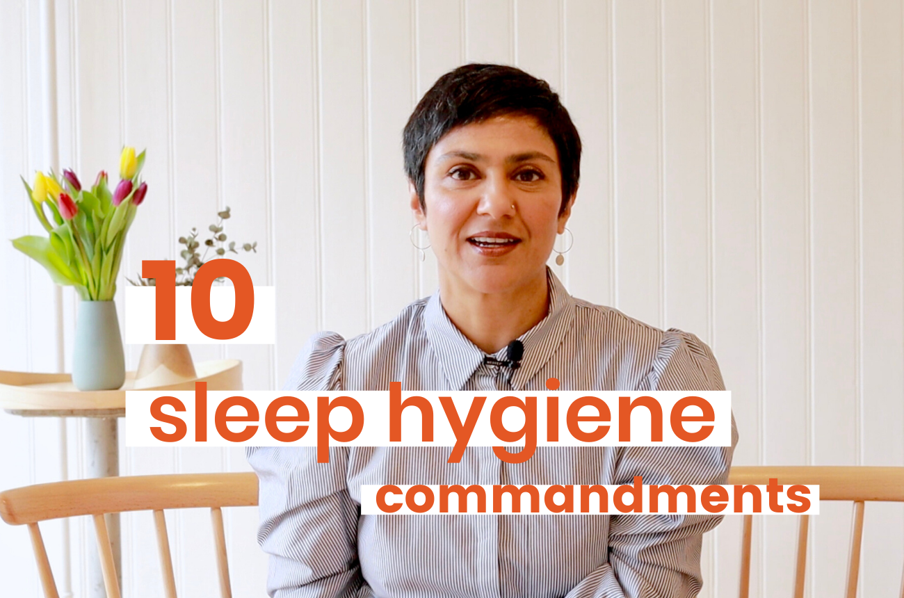 10 sleep hygiene commandments