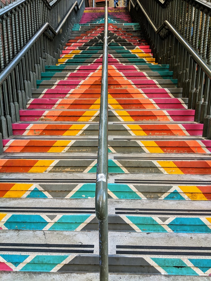 multicoloured staircase