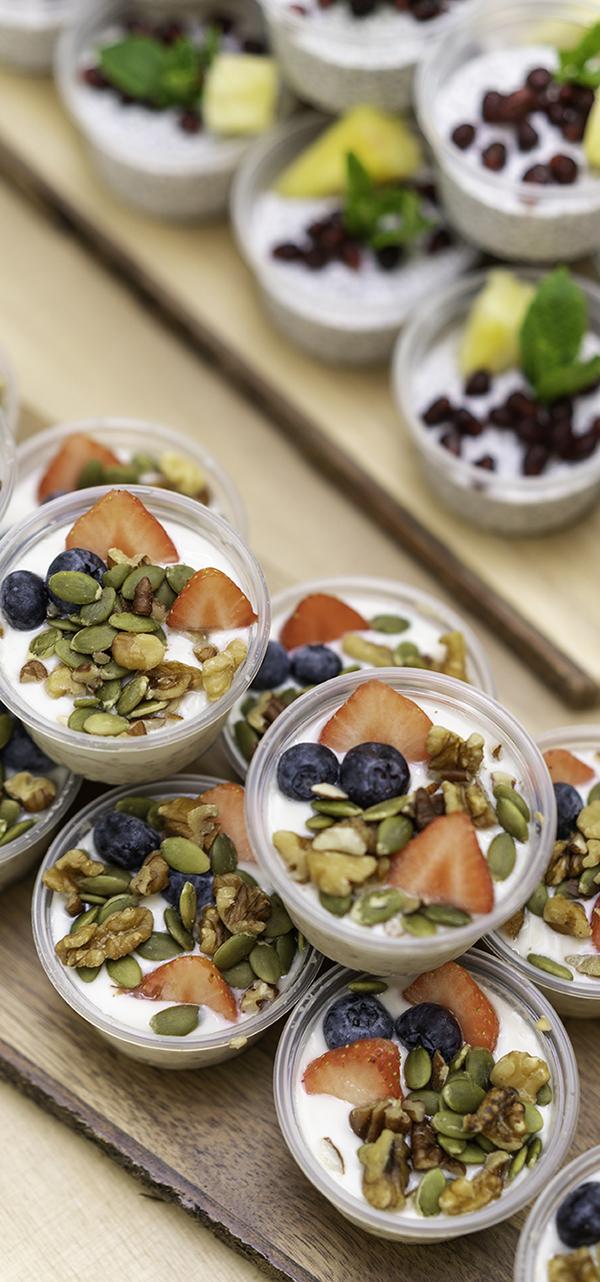 yogurt and fruit pots
