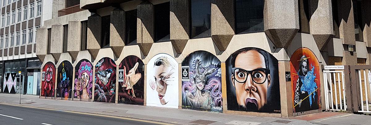 croydon building graffiti