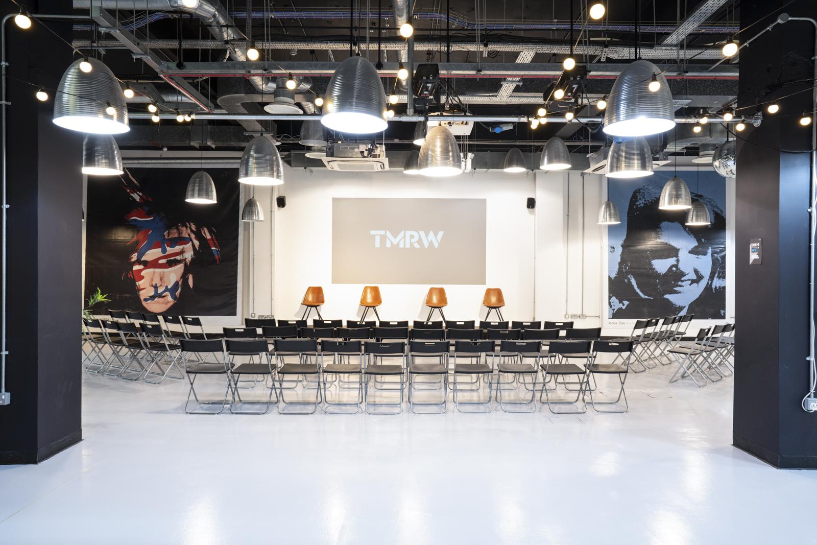 Stage at TMRW events space Croydon
