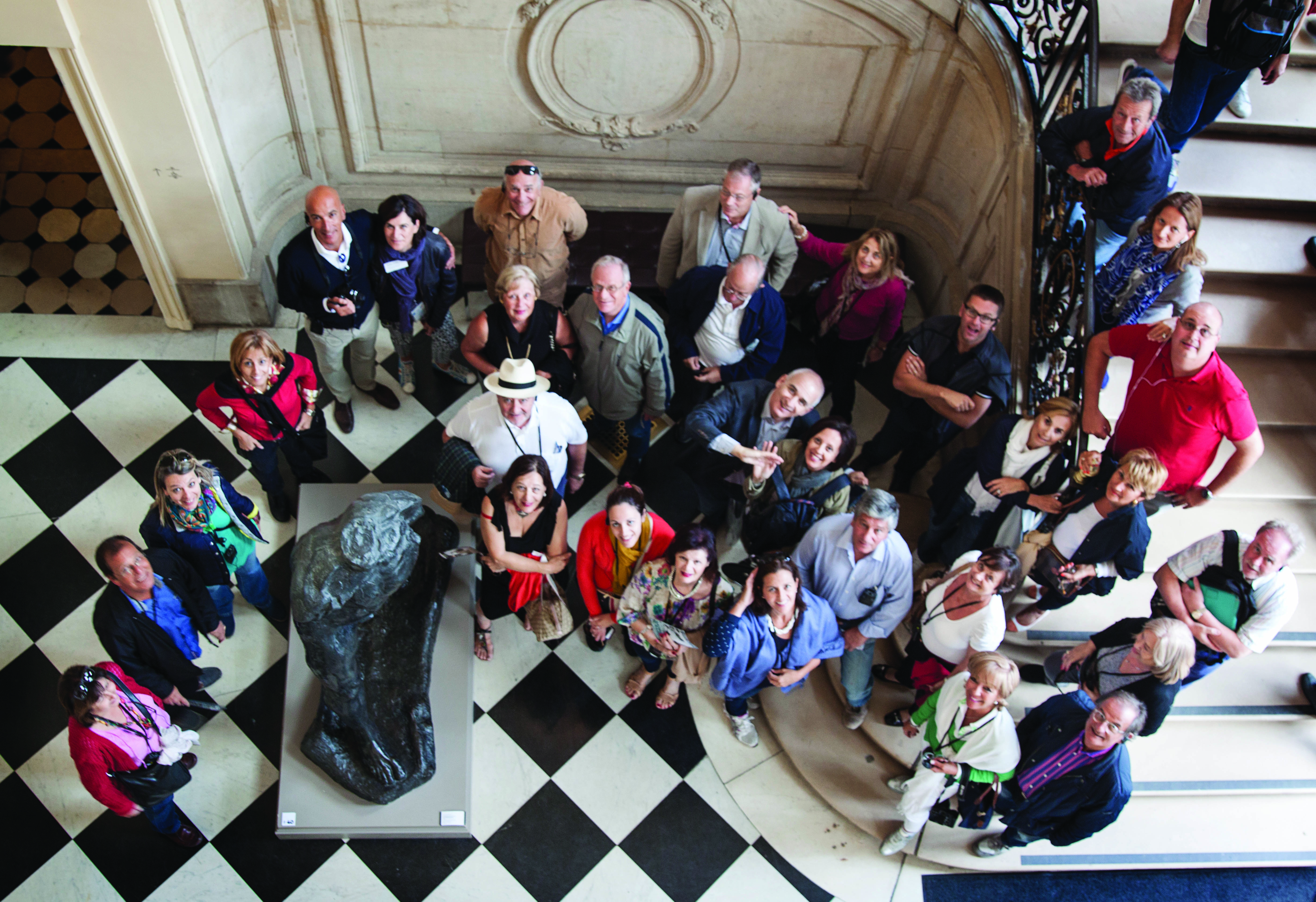 Friends of Palazzo Falson aerial group photo
