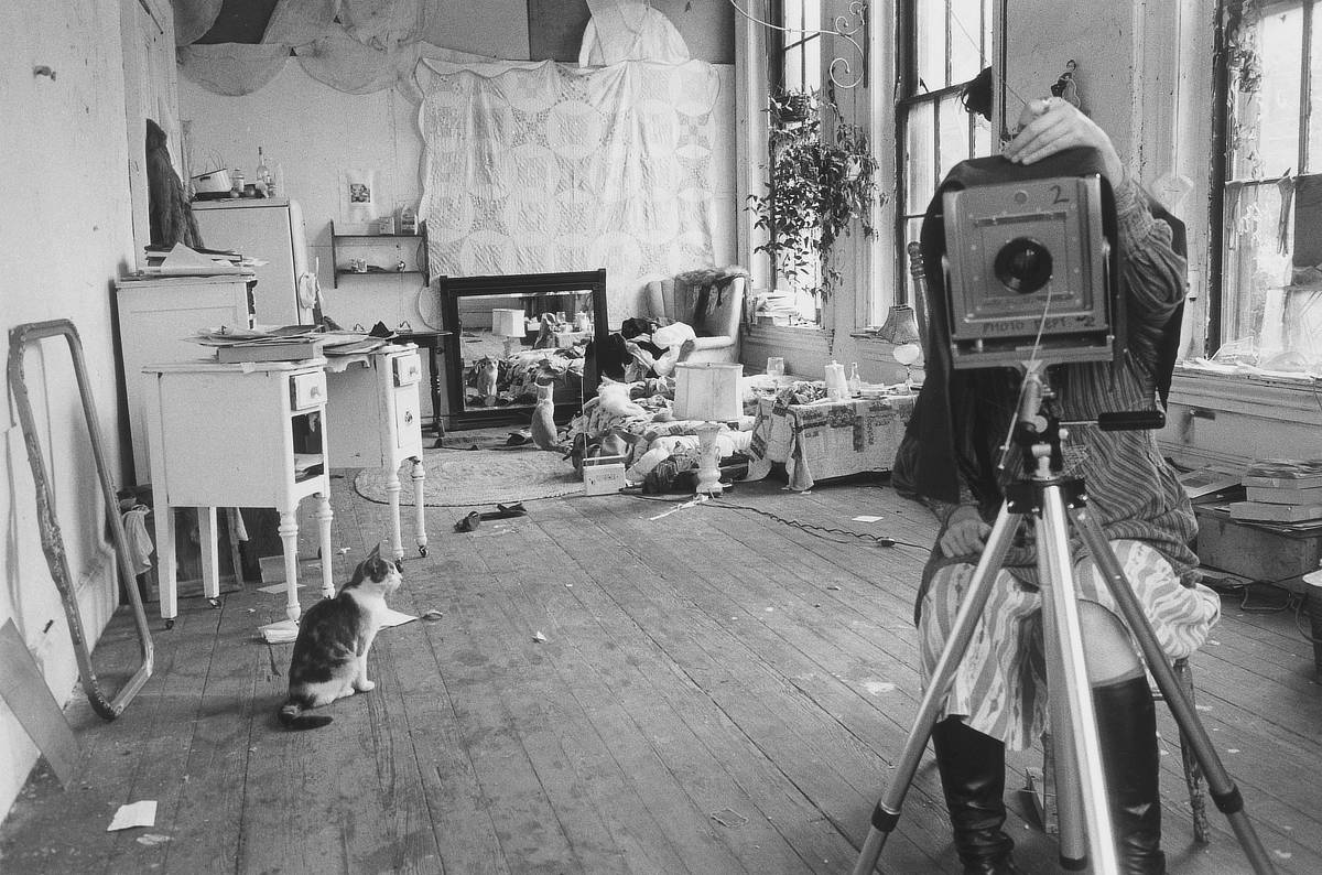 Francesca Woodman with her camera