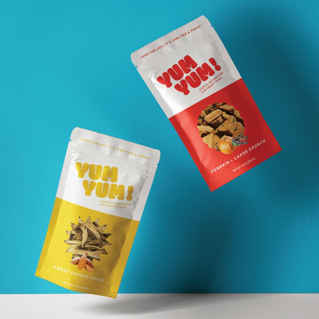 Packaging design for Yum Yum! Dog Treats