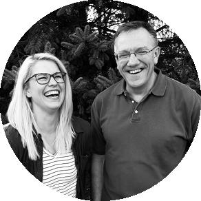 Headshot of Emma Tuftin and Grant Henry of Brio Marketing