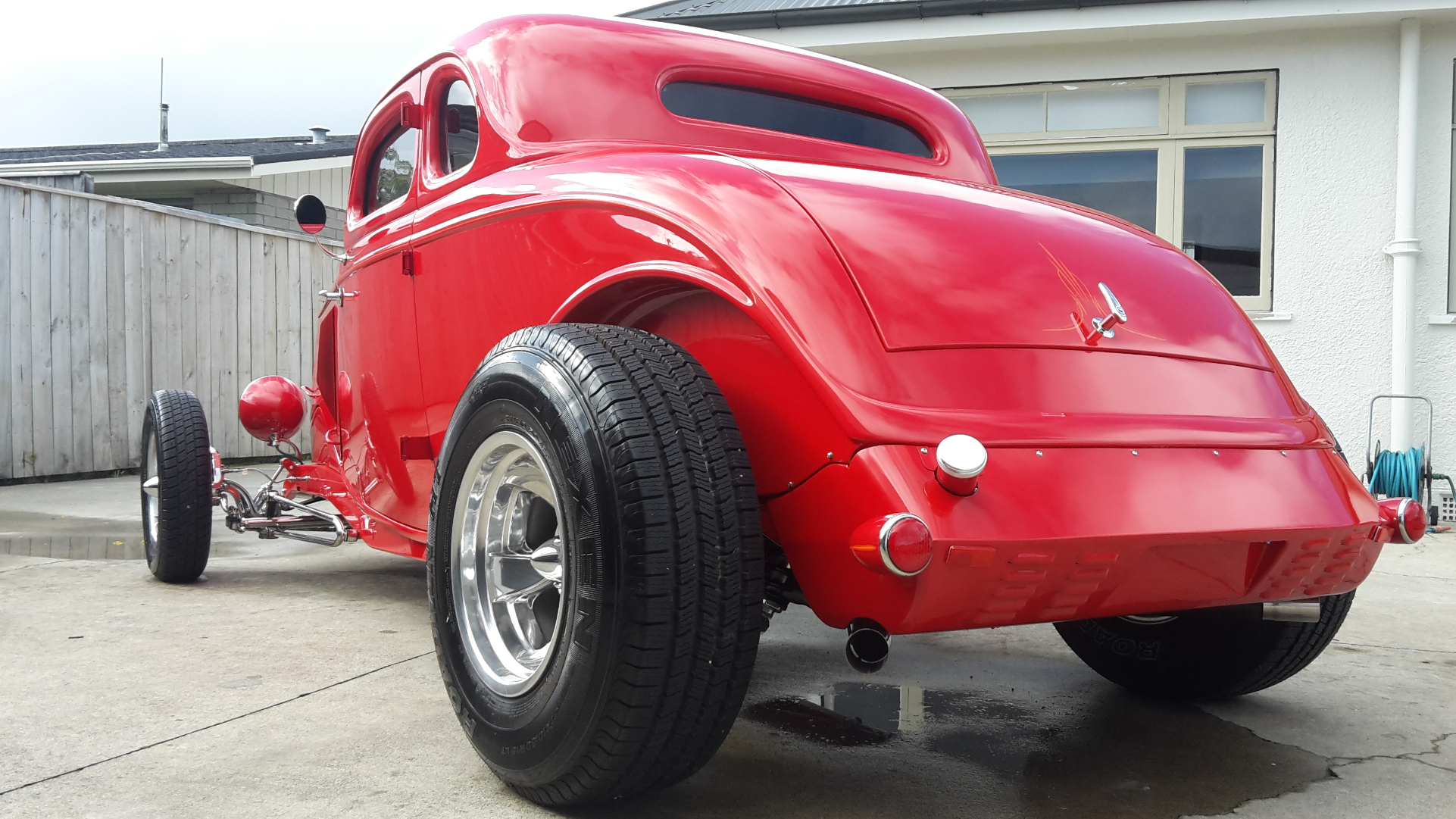 Rear view of a restored Hot Rod