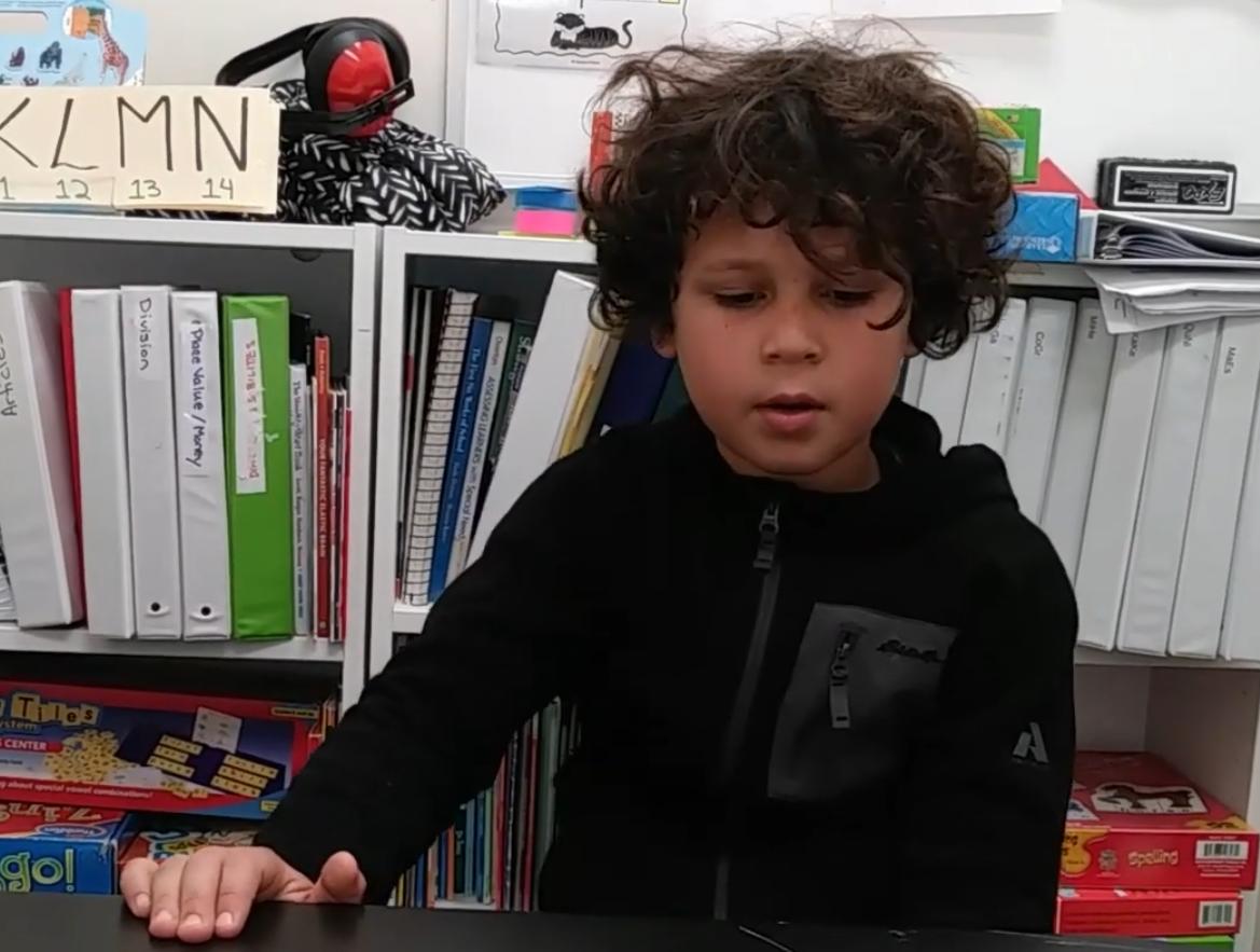 Watch Kai jump two grade levels.