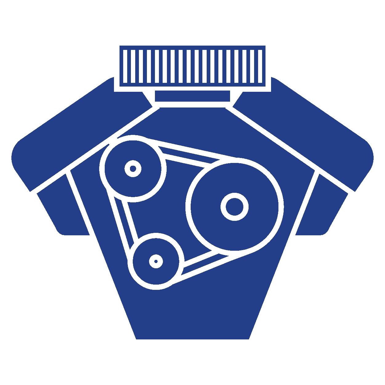Icono motor azul