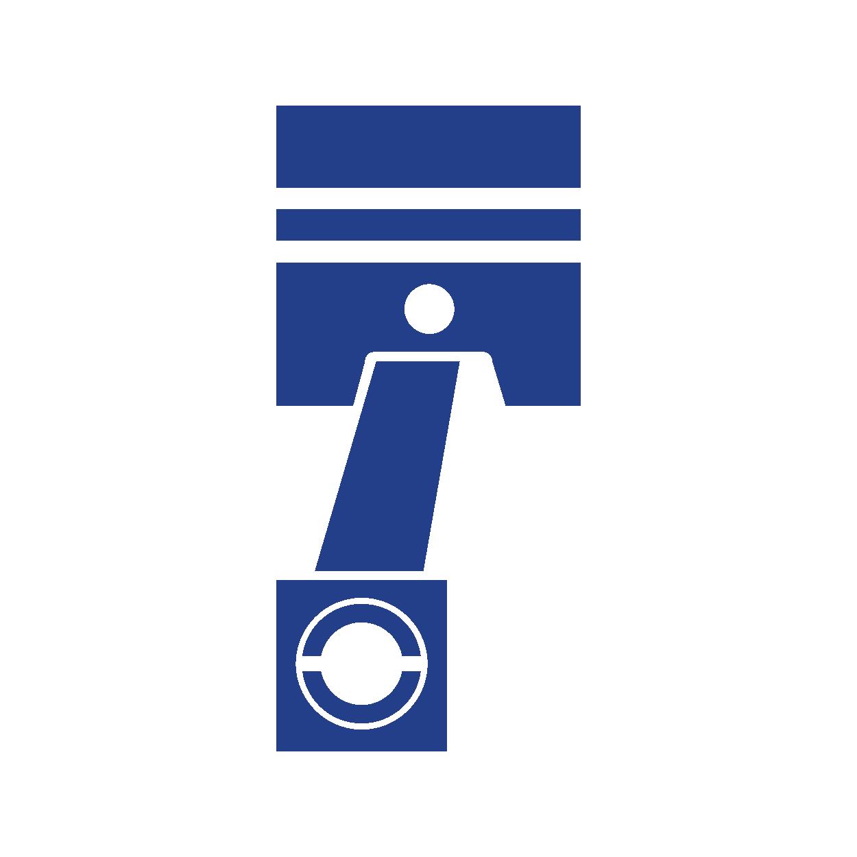 Icono piston azul