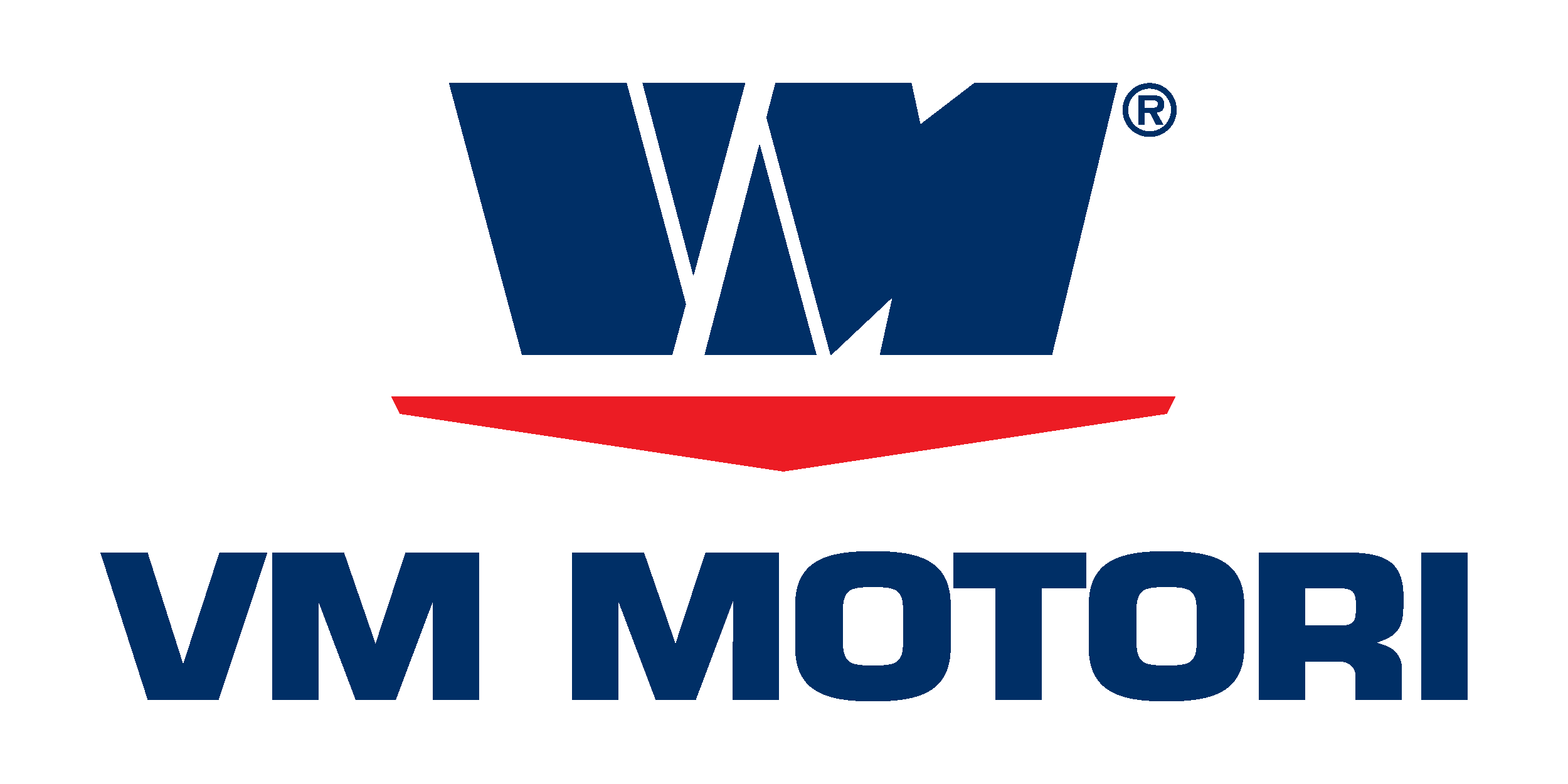 Logo VM Motori azul