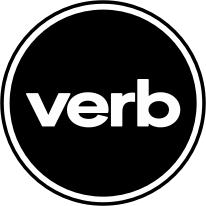 verb logo black