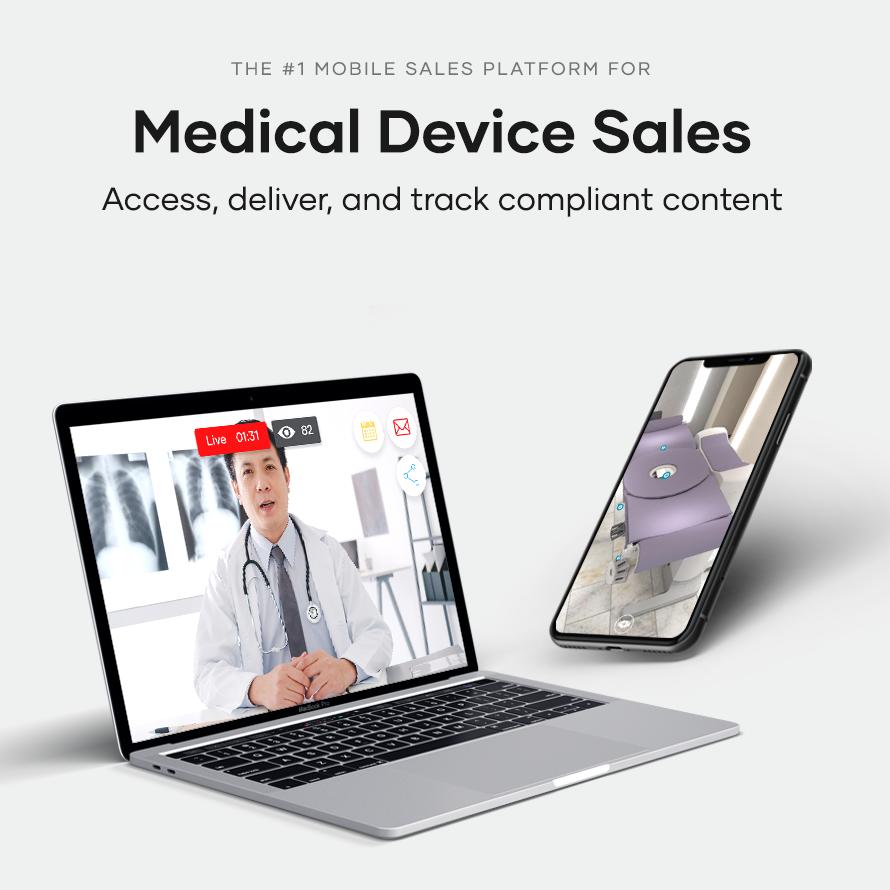 medical sales enablement dashboard sample on laptop