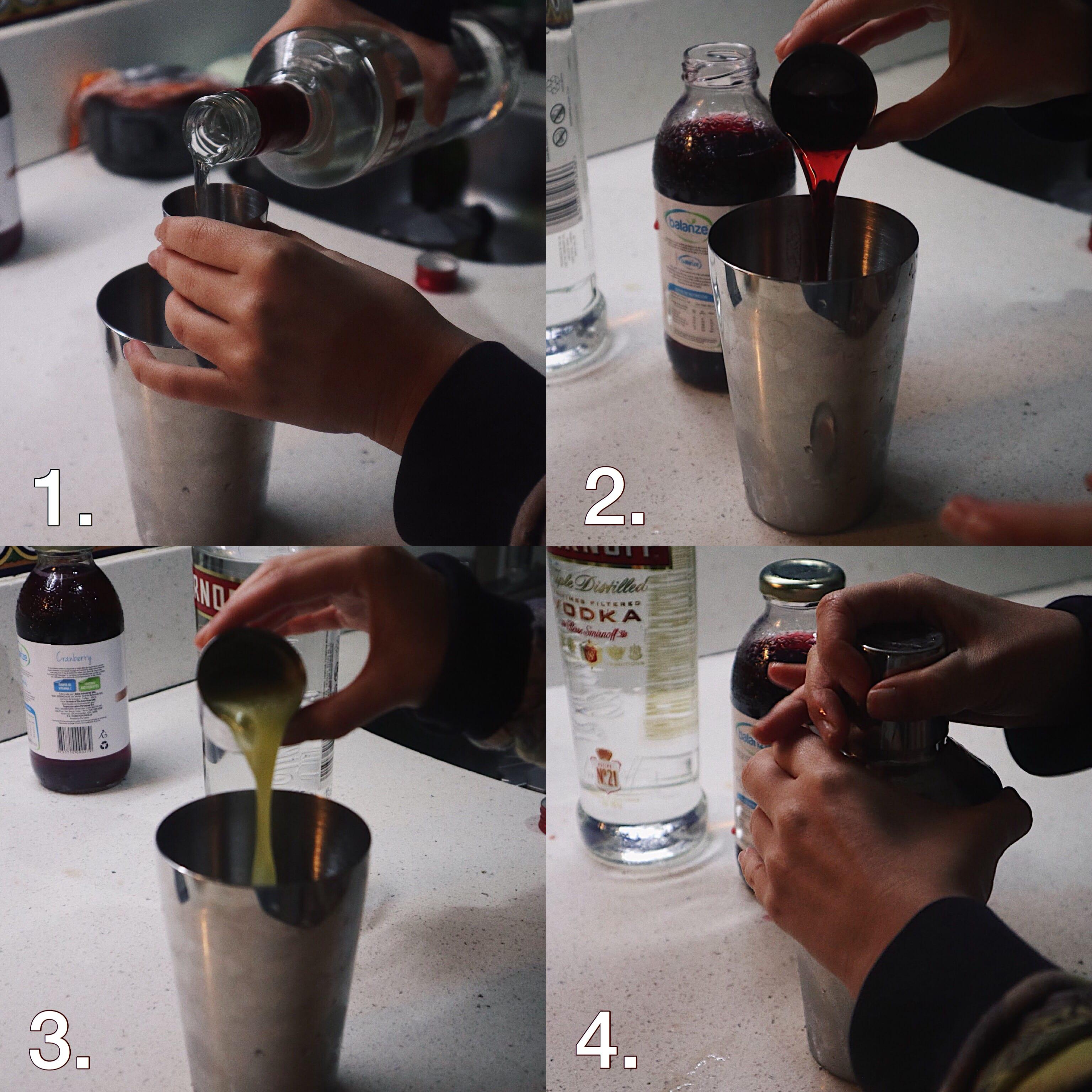 Preparación de trago
