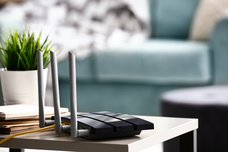 trạm phát wifi lưới hiện đại trong ngôi nhà thông minh
