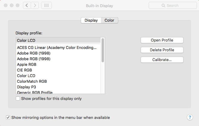 Mac display calibrator assistant