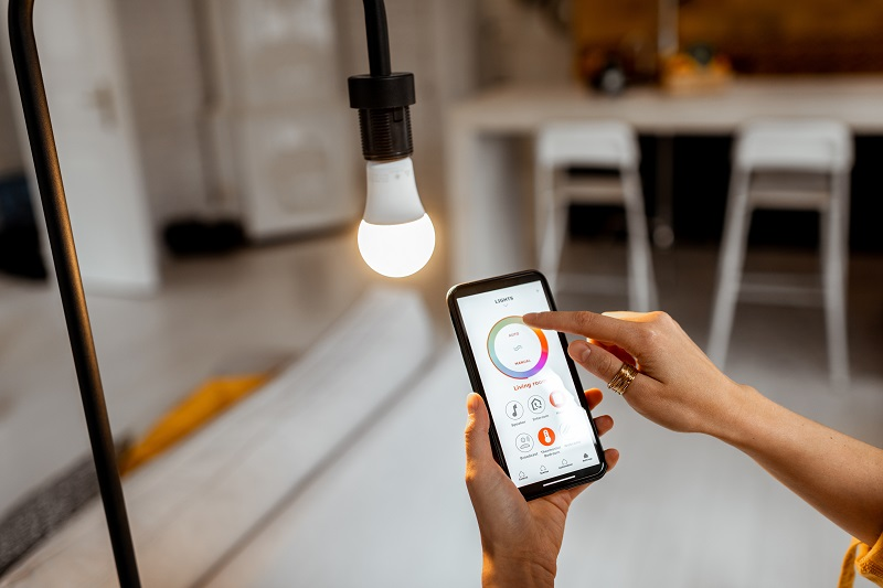 smart home lighting personalization via app