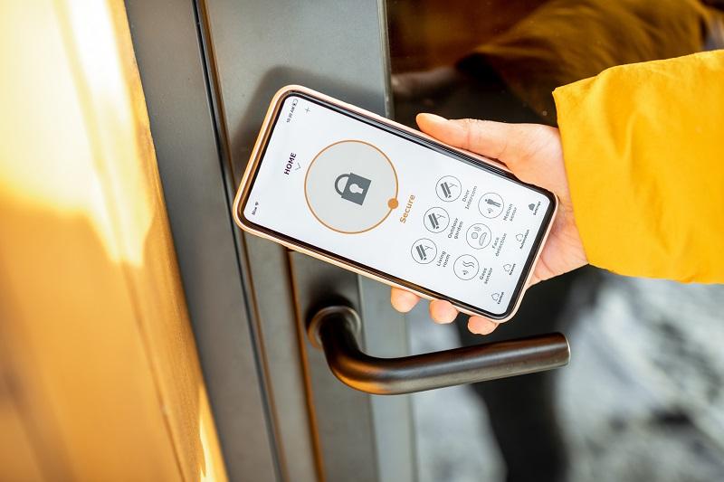 opening a smart home lock via an app